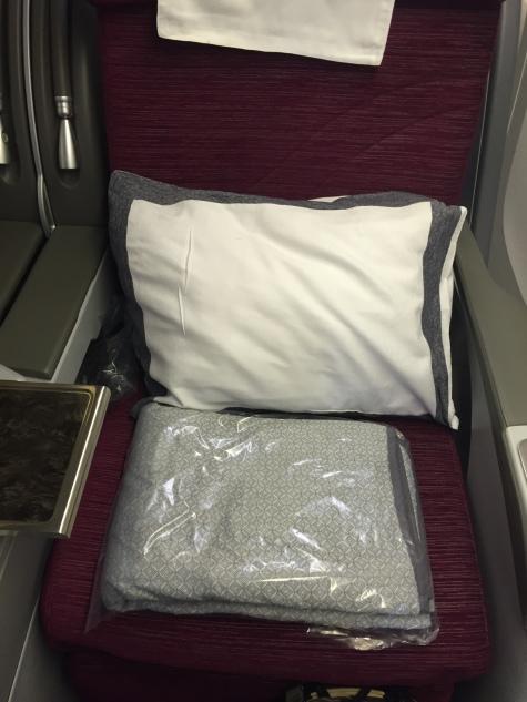 QR business class seat
